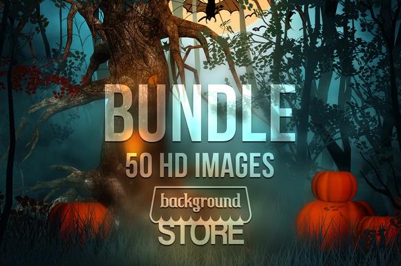 Halloween Backgrounds Bundle