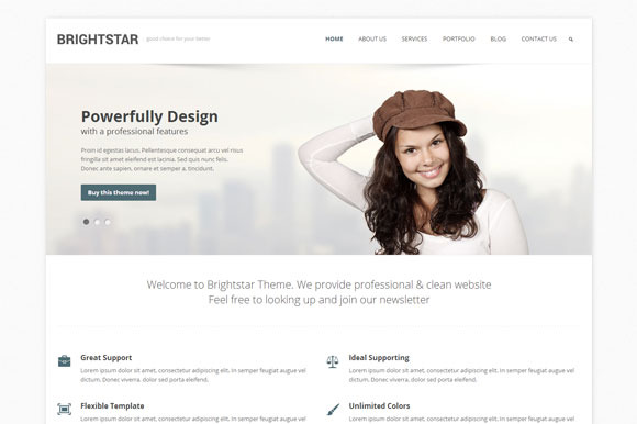 Brightstar Business WordPress Theme