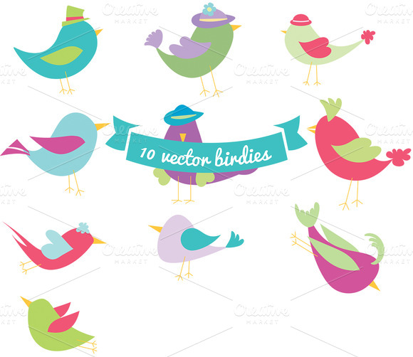 10 Vector Birdies Vol 1