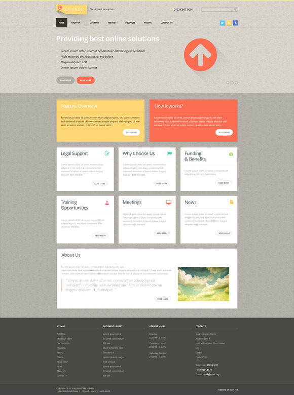 CTemplate Psd Layered Template