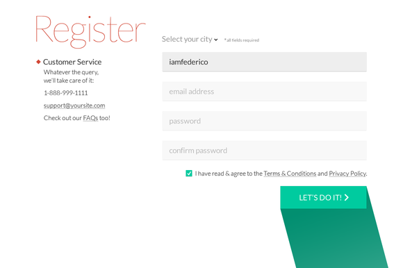 Register Form Ui Psd