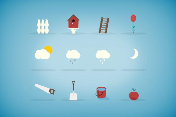 12 Garden Icons