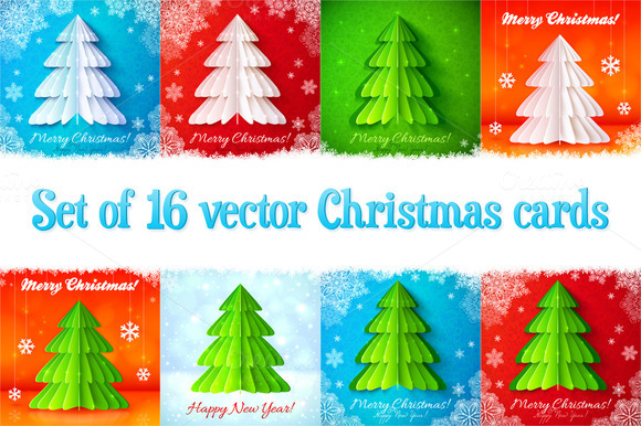 16 Vector Christmas Cards