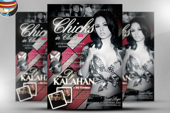 Chicks In Clubs Flyer Template
