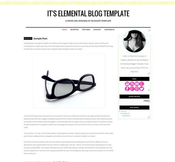 It S Elemental Blogger Template