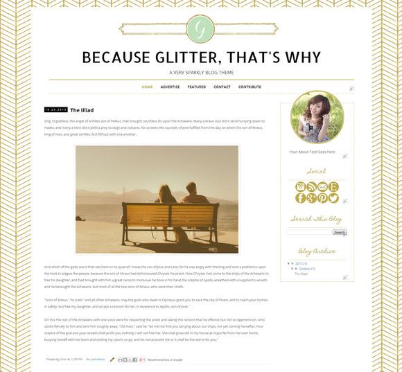 Glitter Blogger Template