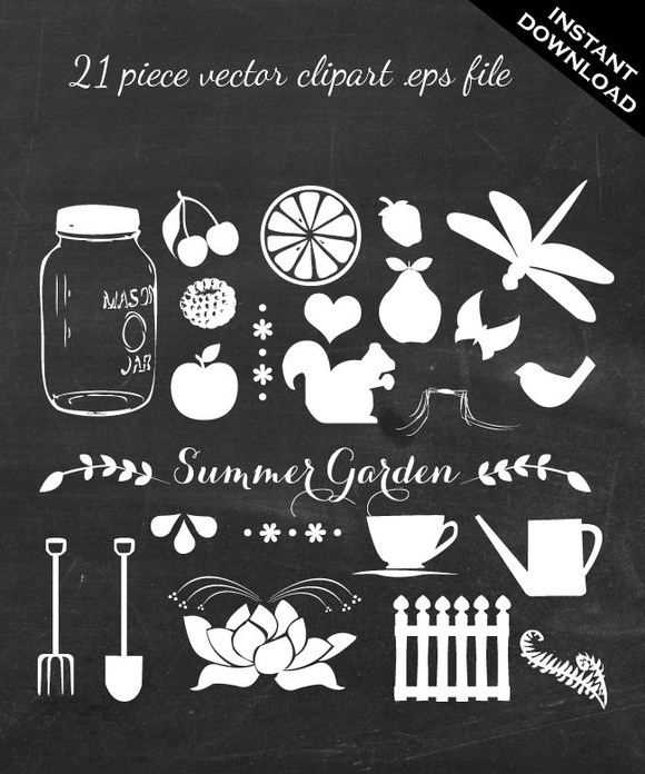 Vector Clip Art 21 Piece