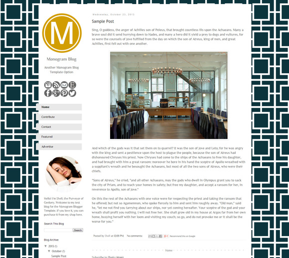 Monogram Blogger Template