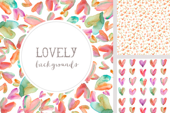 Lovely Backgrounds Watercolor