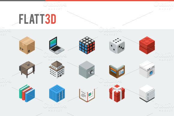 Flatt3D Isometric Icon Pack