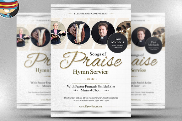 Songs Of Praise Flyer Template