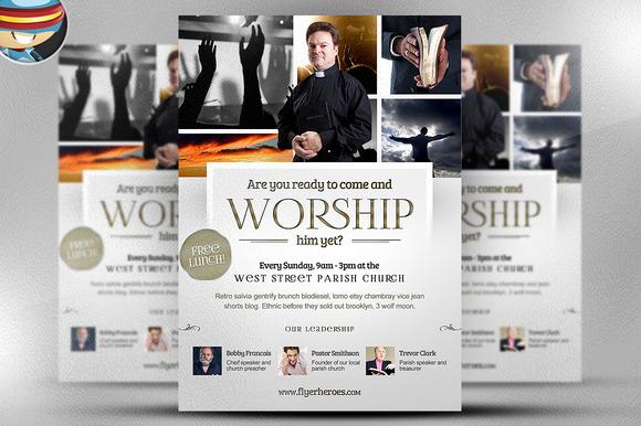 Worship Church Christian Flyer