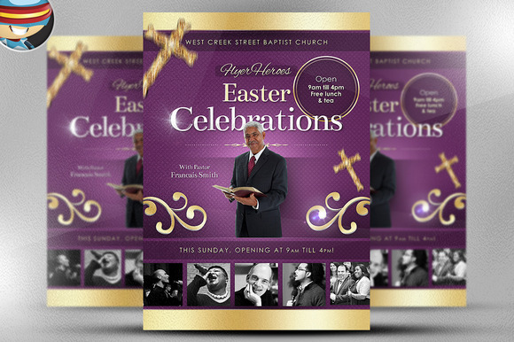 Easter Celebrations Flyer Template