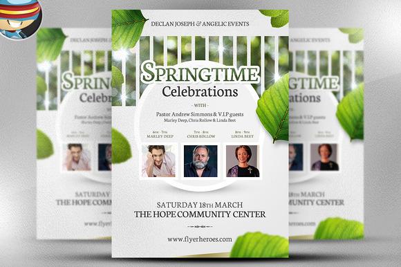 Springtime Celebrations Flyer