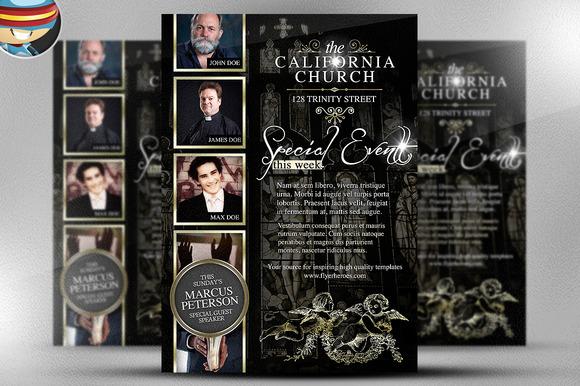 California Church Flyer Template
