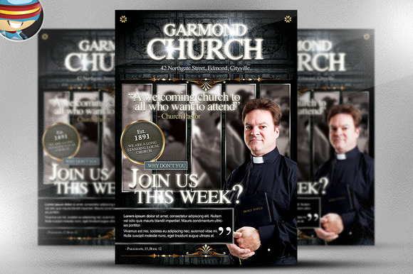 Garmond Church Flyer Template