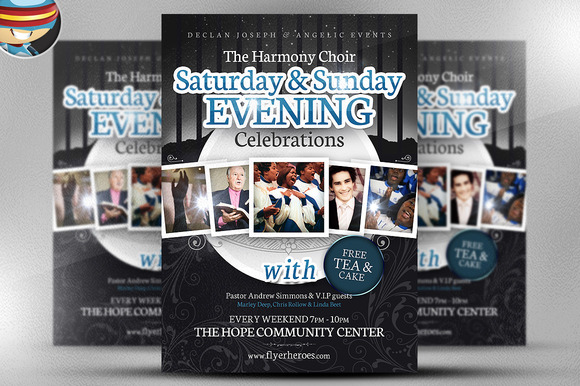 Evening Celebrations Flyer Template