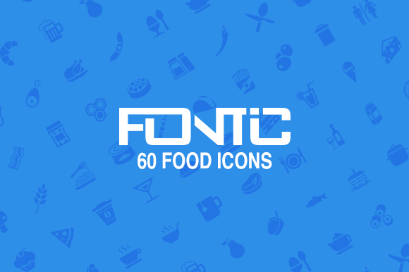 Fontic 60- Food Icons