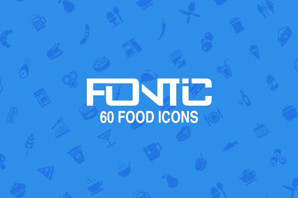 Fontic 60- Food Icons