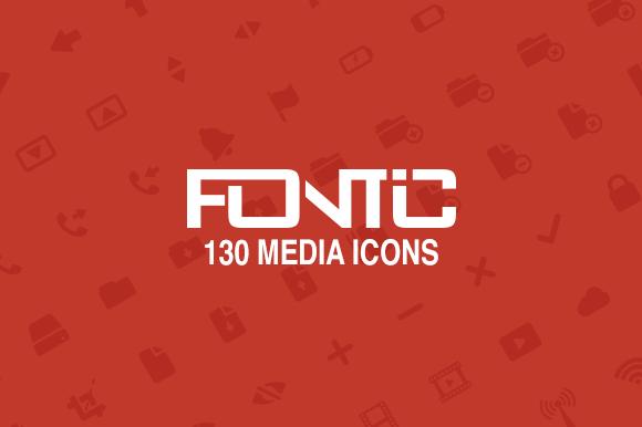 Fontic 130- Media Icons