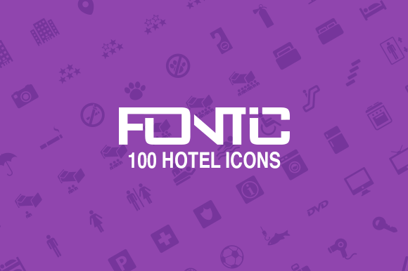 Fontic-100-Hotel Icons
