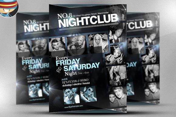 No 8 Nightclub Flyer Template
