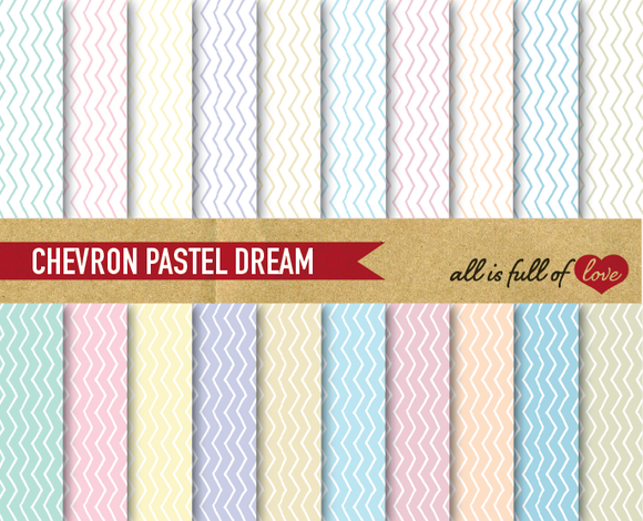 Chevron Pastel Digital Backgrounds