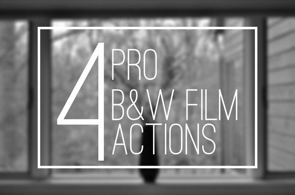 5 B W Pro Film Actions