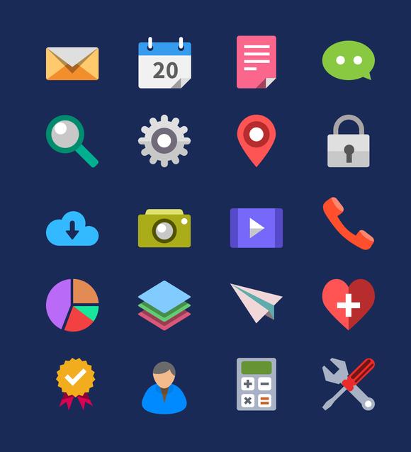 20 Flat Icons
