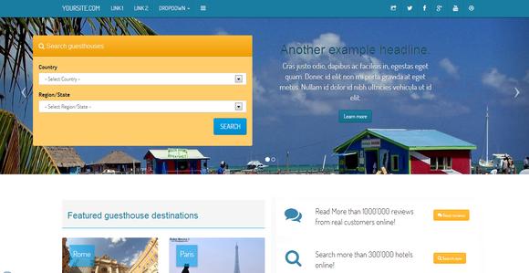 Booking Portal Responsive Bootstrap