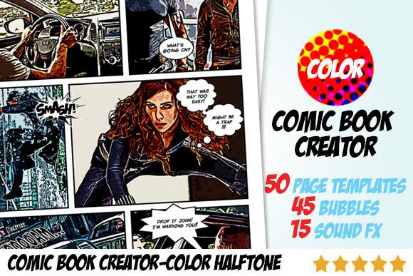 Comic Book Creator Color Halftone