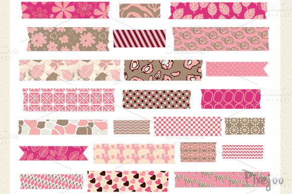 Washi Tape Clipart In Vector And PNG