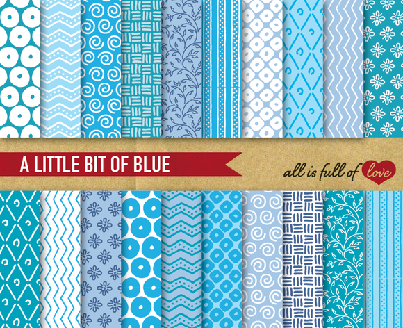 Blue And White Background Patterns