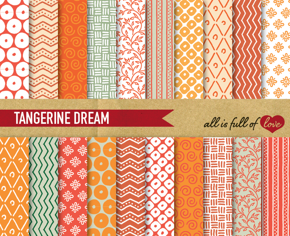Tangerine Digital Backgrounds