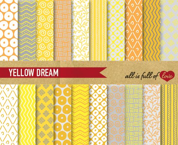 Yellow Grey Background Patterns