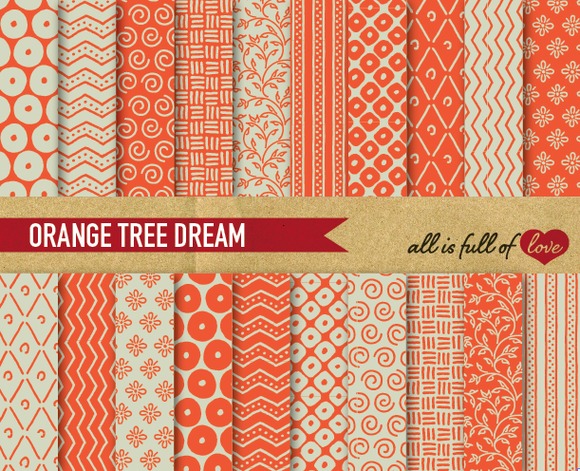 Orange Tree Background Patterns