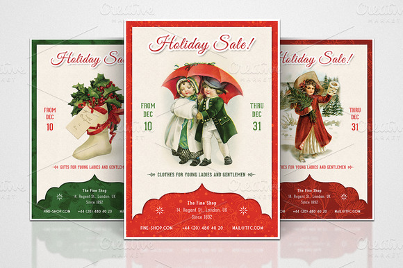 3 Retro Christmas Flyers Part 1