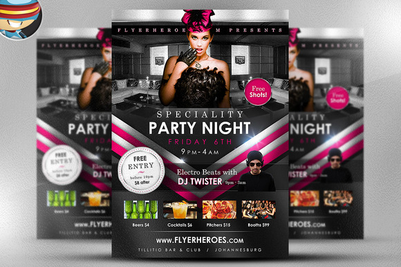 Speciality Party Flyer Template