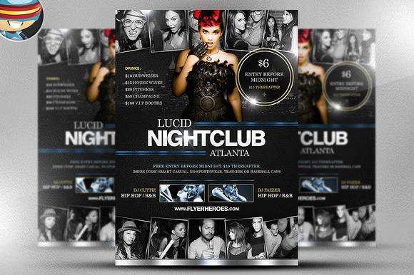 Lucid Nightclub Flyer Template