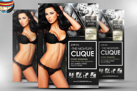 Nightlife Clique Flyer Template