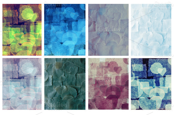 Abstract Background Collage
