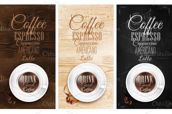 Poster Menus Coffee Lettering