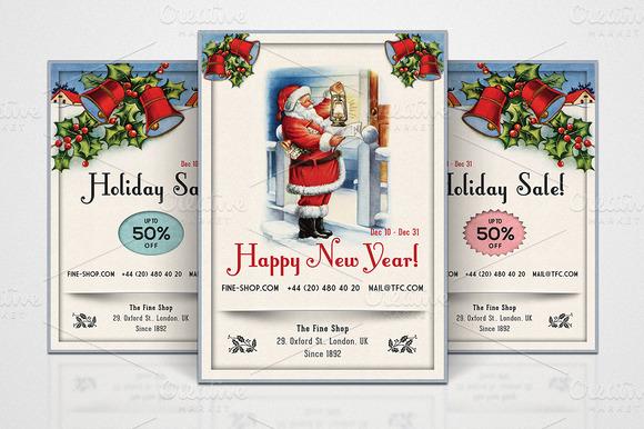 3 Retro Christmas Flyers Part 3