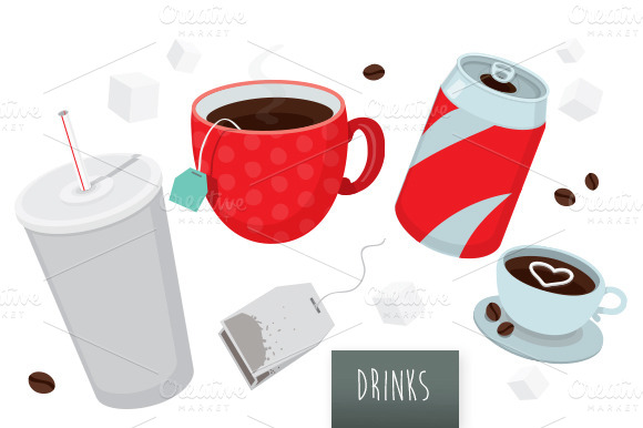 Drinks Vector Set