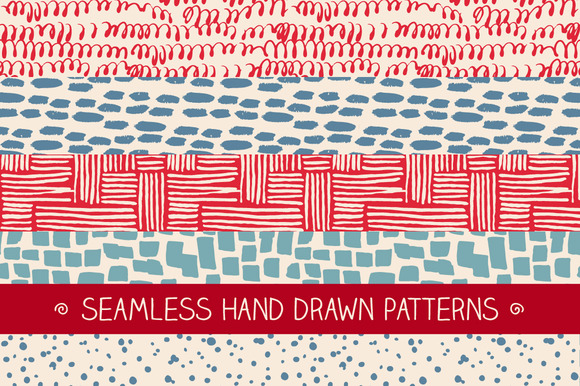 Set Of Hand Drawn Patterns