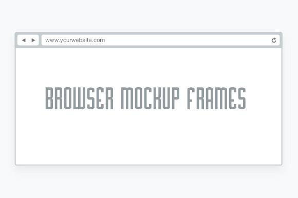 Minimal Flat Browser Mockup Frames