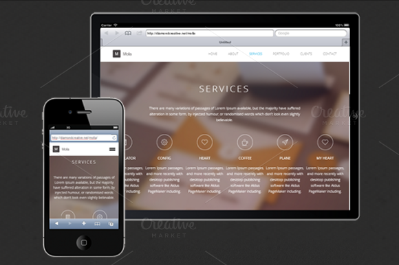 Molla HTML Responsive Template