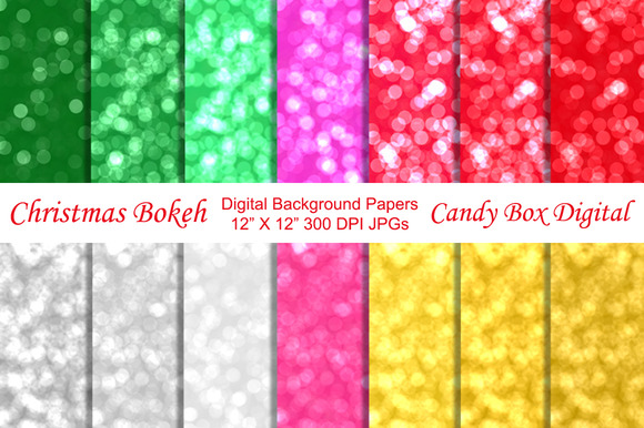 Christmas Bokeh Background Papers