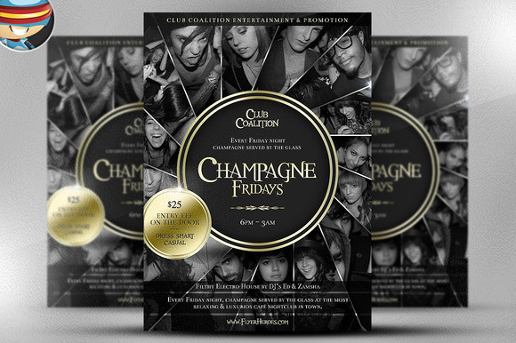 Champagne Fridays Flyer Template II