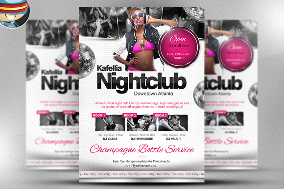 Kafellia Nightclub Flyer Template